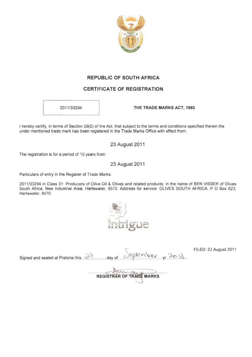 South Africa Trademark Registration Services - Marcaria.com