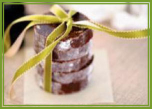 wrapped chocolate salami